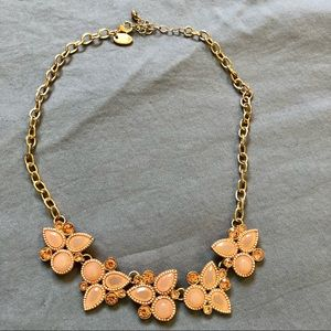 Rickis Peach gold statement necklace